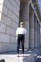 Zara blouse - Deichmann shoes - Zara pants