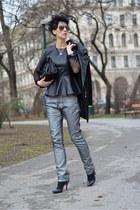 OASAP top - PERSUNMALL shoes - Sheinside coat - Zara bag