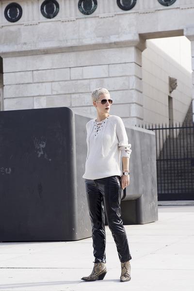 H&M Studio shoes - zaful sweater - Zara pants