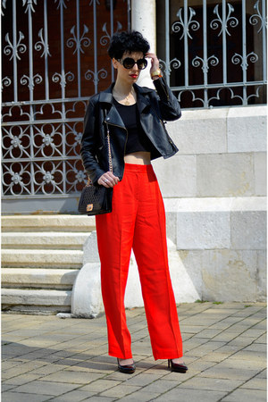 Sheinside jacket - Martofchina bag - zeroUV sunglasses - H&M Trend pants