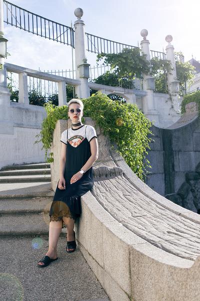 Zara shoes - Zara dress - Primark shirt