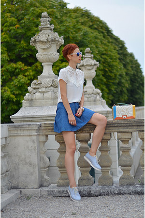 Chicwish skirt - OASAP bag - zeroUV sunglasses