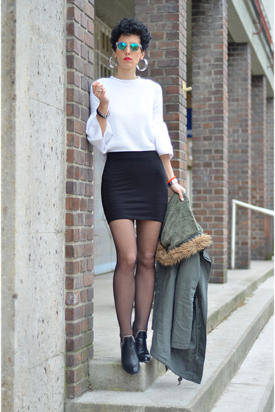 H&M skirt - OASAP shoes - H&M Trend sweater