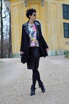 Zara boots - Sheinside coat - Zara bag - Sheinside sweatshirt