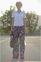 custom made pants - Zara shoes - wwwvj-stylecom bag - wwwoasapcom sunglasses