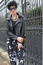 Rockspapermetal-necklace-sheinside-jacket-oasap-sunglasses-zara-pants