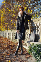 Sheinside jacket - Chicwish bag - zeroUV sunglasses - oNecklace necklace