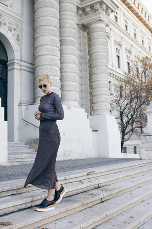 H&M shoes - H&M Trend blouse - H&M Trend skirt