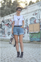 H&M Trend shirt - Topshop boots - wwwoasapcom bag - wwwchicnovacom shorts