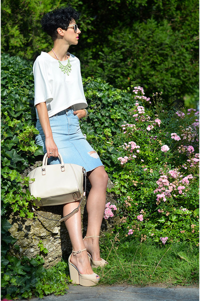 Rocks Paper Metal necklace - Randa shoes - Jolly Chic bag - zeroUV sunglasses