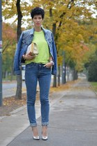 Levis  DIY jacket - Bershka shoes - H&M Trend jeans - wwwoasapcom bag