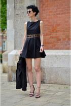 AX Paris dress - Sheinside blazer - zeroUV sunglasses - H&M heels
