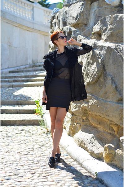 H&M Trend vest - Sheinside blouse