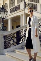Front Row Shop coat - H&M shoes - h&m divided dress