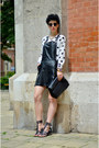 Zerouv-sunglasses-ahaishopping-blouse-frontrowshop-skirt