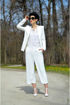 Zara shoes - Zara blazer - zeroUV sunglasses - AHAISHOPPING blouse - Zara pants