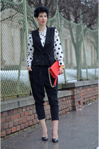 H&M Trend vest - Martofchina bag - AHAISHOPPING blouse - H&M Trend pants