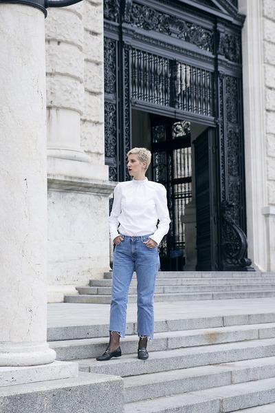 Topshop shoes - Wrangler jeans - H&M shirt