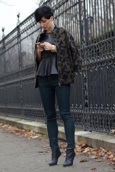 Zara jacket - Maison Martin Margiela for H&M shoes - Zara jeans