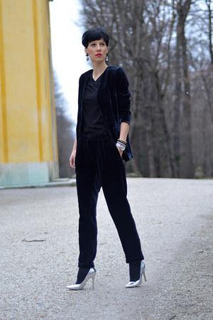 Bershka shoes - H&M Trend blazer - H&M Trend pants