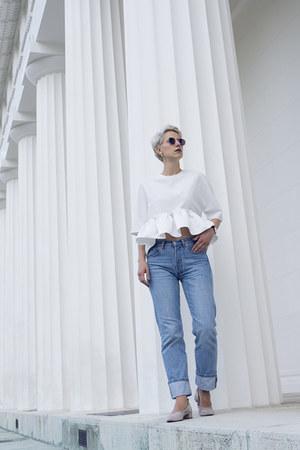 H&M shoes - Levis jeans - Sheinside blouse