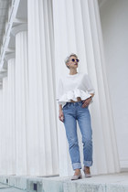 H&M shoes - Levis jeans - Sheinside blouse