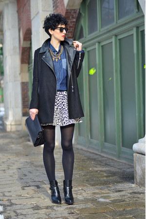 Zara boots - Sheinside coat - zeroUV sunglasses