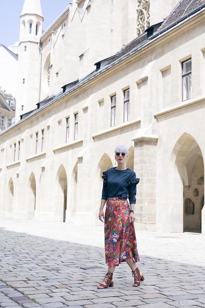 H&M skirt - lightinthebox blouse