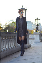 H&M Trend coat - Zara boots - Zara dress - zeroUV sunglasses