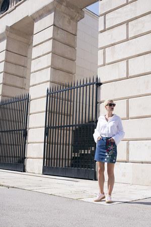Topshop skirt - Deichmann shoes - H&M shirt