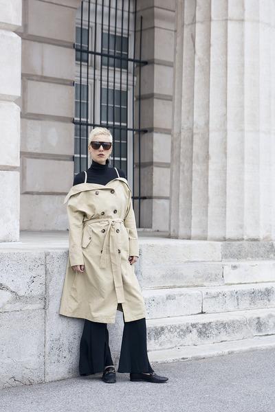 shein coat - Topshop shoes - Zara pants
