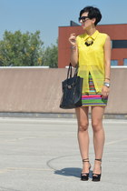 FAA H&M skirt - Zara shoes - wwwvj-stylecom bag - wwwoasapcom sunglasses