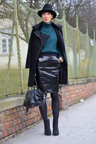 H&M sweater - Zara boots - Sheinside coat - H&M skirt