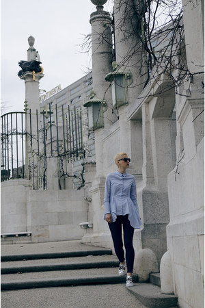 Sheinside jeans - zeroUV sunglasses - H&M Trend blouse