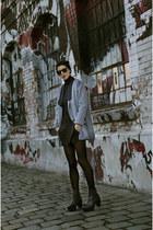 OASAP coat - Choies boots - Sheinside shorts - zeroUV sunglasses