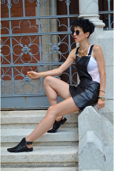 PERSUNMALL shoes - Front Row Shop dress - zeroUV sunglasses