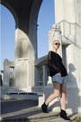 Ami-club-wear-boots-levis-shorts-zara-blouse