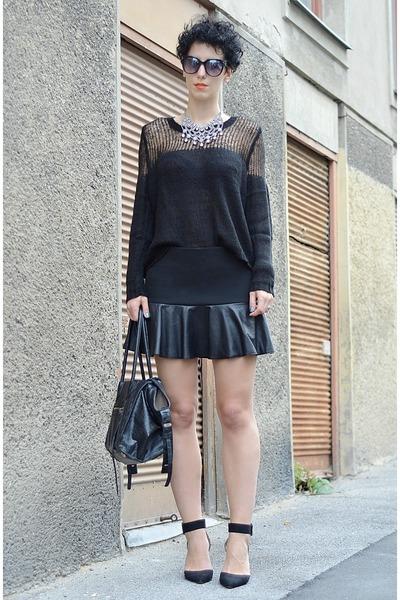 Zara shoes - GINA TRICOT sweater - wwwoasapcom sunglasses - Zara necklace