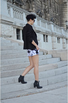 Sheinside blazer - Sheinside shorts - zeroUV sunglasses