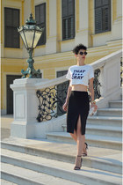 H&M Trend skirt - Zara bag - zeroUV sunglasses - H&M top