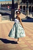 midi H&M skirt - white vintage top