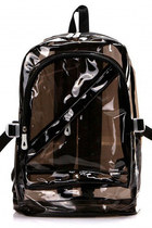 90s style Clear Black Jelly Backpack