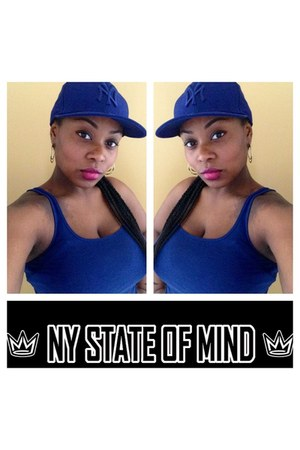 blue new york fitted no brand hat