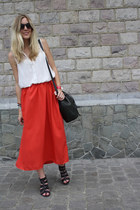 Primark skirt - Mulberry bag - new look sandals - new look blouse