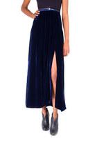 maxi velvet funktional skirt