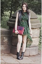 dark green Sheinside dress