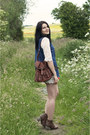 Dark-brown-boohoo-boots-ivory-lace-sheinside-dress