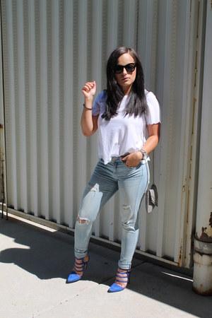 H&M jeans - Forever 21 bag - Topshop top - JustFab heels