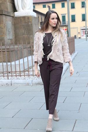 dark brown culotte à la fois pants - beige Diesel boots