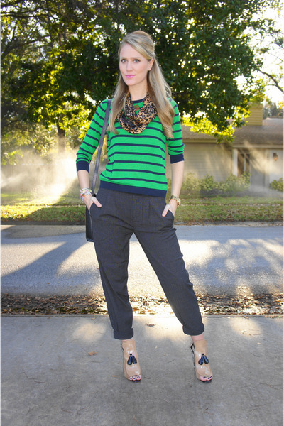 Camel Zara Shoes, Green Old Navy Sweaters, Bronze Leopard JCrew ...